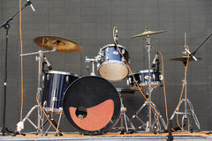 Drums kit. On the stage royalty free stock photo