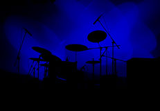 Drums In Lights Royalty Free Stock Images