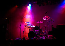 Drums In Lights royalty free stock photos