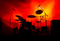 Drums In Lights Stock Photography
