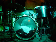 Drums In Lights Royalty Free Stock Photography