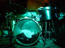 Drums In Lights Royalty Free Stock Photo