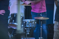 The drums at live concert Royalty Free Stock Images