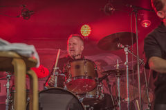 On drums Mike Hellier Stock Images