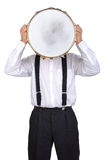 Drums player Royalty Free Stock Photography