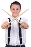 Drums player Stock Photography
