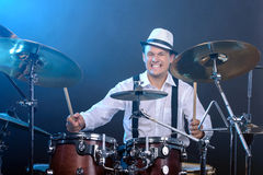 Drums player Royalty Free Stock Image