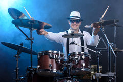 Drums player Royalty Free Stock Photos