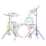 drums satsen vektor illustrationer