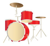 Drums - Set of musical instruments Royalty Free Stock Images