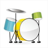 Drums - Set of musical instruments in vector Stock Image