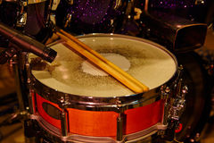 Drums set and sticks Stock Photo