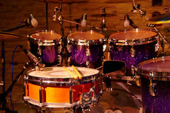 Drums set and sticks Stock Photography