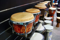 Drums on shelf Royalty Free Stock Photos