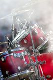 Drums and smoke Royalty Free Stock Photography