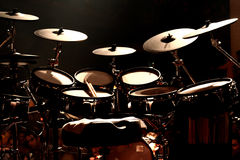 Drums on Stage Royalty Free Stock Photography