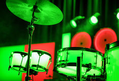 Drums on a stage Royalty Free Stock Image