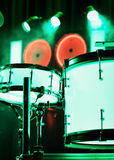 Drums on a stage Stock Images