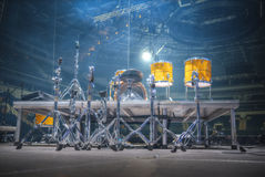 Drums stand on the stage Stock Image