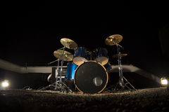 Drums. Standing on the roof of a building royalty free stock photography