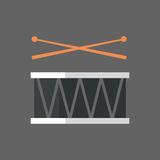 Drums With Stick Icon Handle Music Instruments Royalty Free Stock Photos