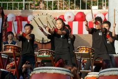 drums taiko Royaltyfria Bilder