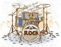 drums tappning Fotografering för Bildbyråer