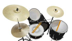 Drums. Top view of drums isolated on white background Stock Image