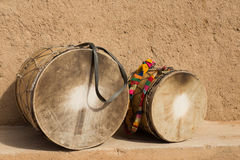 Drums. Traditional drums played by the Gnaoua in Merzouga, Morocco Royalty Free Stock Photo