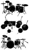 Drums Vector 01. Set Drums Isolated Illustration Vector Stock Photography