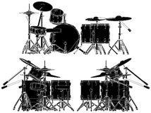 Drums Vector 02 Royalty Free Stock Images