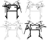 Drums Vector 09. Concert Drums Isolated Illustration Vector Stock Photos