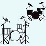 Drums. Vector Royalty Free Stock Photography
