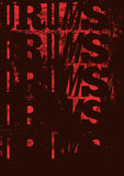 Drums vintage style grunge poster. Retro typographical  illustration. Stock Image