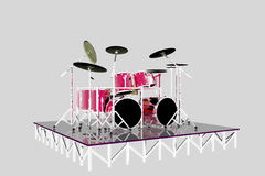 Drumset illustration de vecteur