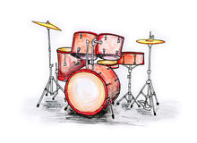 Drumset Royalty Free Stock Photo