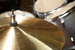 Drumset cymbal Stock Images