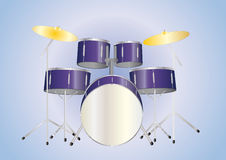 Drumset purple Royalty Free Stock Photography