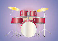 Drumset red Royalty Free Stock Photography