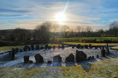 Drumskinny stone circle, Northern Ireland Royalty Free Stock Image
