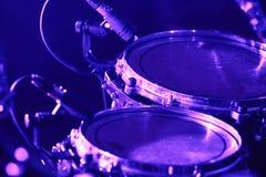 Drumstel met microfoons Royalty-vrije Stock Foto