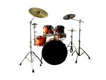 Drumstel op Wit Royalty-vrije Stock Fotografie