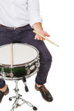 Drumstick in hand Royalty Free Stock Photos