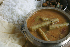 Drumstick Sambar - A lentil soup from India Royalty Free Stock Images