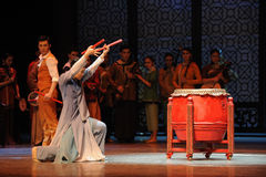 Drumstick-The third act of dance drama-Shawan events of the past Stock Photo