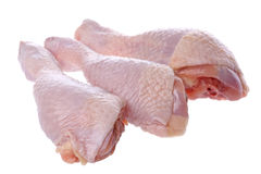 drumsticks цыпленка сырцовые Стоковые Фотографии RF