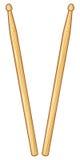 drumsticks ilustração do vetor