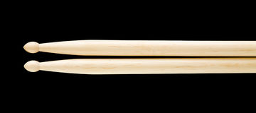 Drumsticks isolated on black Stock Photos