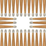 Drumsticks pattern Royalty Free Stock Photos
