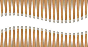 Drumsticks pattern Stock Photos